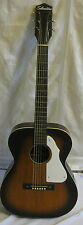 Vintage Silvertone 625 Jumbo Acoustic Guitar Sunburst Harmony 1960s With Case