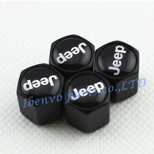 Black Chrome Styling Car Metal Wheel Tyre Tire Stem Air Valve Cap For Jeep