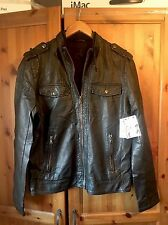 BNWT - CALVIN KLEIN - Men's Faux Lambs Leather Biker Jacket - UK Medium