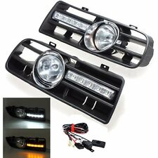 1Pair  Fog Light & Daytime Running Light Grill VW For Golf MK4 99 00 01 02 03 04
