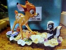 Disney WDCC BAMBI & FLOWER figurine Limited Edition Wheel W/ Original Box & Bag
