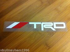 TRD Toyota Racing Development JDM vinyl 2 color sticker decal  FR-S Celica Supra