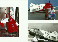"SET OF 3: GEE BEE LOT #26 - 4"" X 6""  ASSORTED B&W & COLOR AIRPLANE PRINTS"