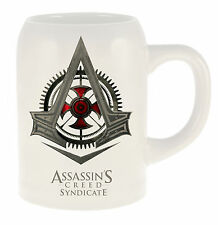 Assassins Creed Game Syndicate Crest Logo 20 oz Ceramic Beer Stein, NEW UNUSED