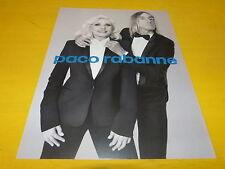 IGGY POP & DEBBIE HARRY - Parfum 2 - Publicité de magazine / Advert !!