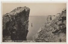 Lighthouse From Beachy Head Eastbourne Vintage RP Postcard 502a