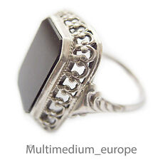 Historismus Argent Bague Onyx De 1890 silver ring 830 antique antique