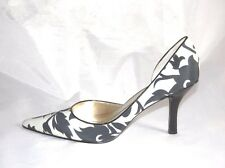 New Authentic Anne Kleine Pumps Catherine Fabric Upper Color Black /Gray  6.5
