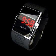 LED Digital Deportivo Resistente al agua Reloj De Lujo Muñeca Para Hombres Negro