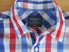 Hackett shirt à manches courtes bleu rouge & blanc carreaux taille s excellent condition