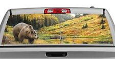Truck Rear Window Decal Graphic [Rock Mountain Grizzly] 20x65in DC47503
