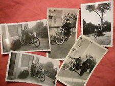 anciennes photographies de famille MOTO 125 RAVAT A48 ca 1950 gendarme photo