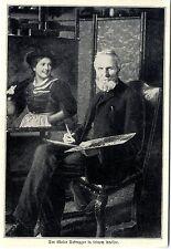 Der österreichische Maler Franz Defregger in seinem Atelier Memorabilie von 1905