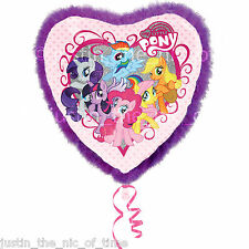 "MY LITTLE PONY Birthday Party Helium Heart FOIL Giant 32"" FLUFFY BALLOON"