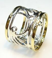925 STERLING SILVER 4 GRAM BEAUTIFUL MEDITATION SPINNER RING US SIZE 7.5 BRASS