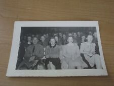 1940's REAL PHOTO POSTCARD -  MILITARY PERSONAL With WIFES & GIRLFRIENDS AT SHOW