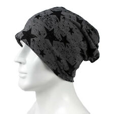 Trendy Men Women Stars Pattern Cotton Slouch Beanie Hat Casual Ski Cap Oversized