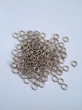 New! 500 pcs Silver Tone Open Jump Rings 6mm Jewelry Item #31 Ring Findings