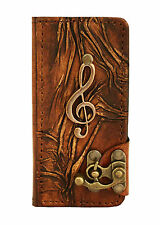 Solo Music Pendant iPhone 5 5S Case Handmade Vintage Leather Flip Wallet Cover