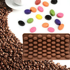 Silicone 55 Cavity Mini Coffee Mold Beans Chocolate Sugar Candy Soap Candy Mould