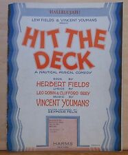 "Hallelujah!- from the nautical musical comedy ""Hit The Deck"" - 1927 sheet music"
