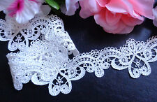 2 inch wide ivory  embroidery lace  selling by the yard