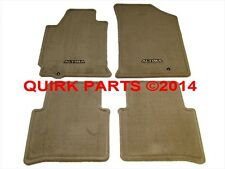2008-2012 Nissan Altima | Beige Tan Carpeted Floor Mats Front & Rear Set OEM NEW
