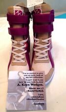 REEBOK MID CUT HIDDEN WEDGE WOMEN'S AK PWHT CANVAS VICTORY PINK AUBERGINE 9M NWB