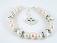 Personalised Wedding Favour Pearl Bracelet  With Free Gift Bag - LB5257