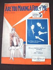 """Vintage 1928 """"Are You Making a Fool of Me?"""" sheet music, signed cover"""
