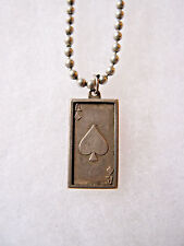 Ace Of Spades 2 Grams .999 Fine Silver Bar Charm on Chain