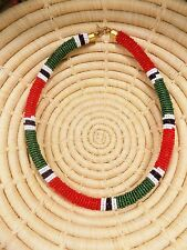 New African Maasai Beaded Choker Necklace Masai Massai ethnic tribal boho jnmr88