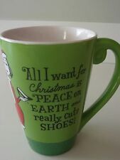 All I Want for Christmas is Peace...and Really Cut Shoes Coffee Mug Cup