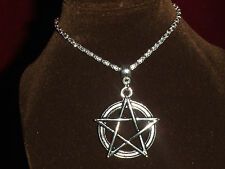 Pentagram pendant necklace. Pagan Witch Wicca