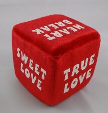 "Dan Dee Red Love Sayings Dice Plush 3"" Valentines Day"