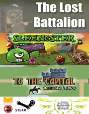 To The Capital+The Lost Battalion: Out Warfare+Sleengster PC Digital STEAM KEY