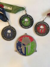 2016 Spartan Race Beast/Super/Sprint Trifecta Medals w/Trifecta Pie Pieces New