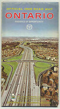Vintage1965 Highway Map ONTARIO, CANADA Dept. of Highways