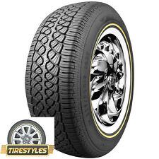 (1) 235/70R15 Vogue Tyre Whitewall W/Gold  Tire