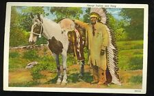 Post Card - Osage Indian and Pony (unused 1915-30(indians1114