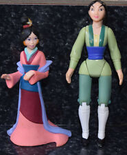 Disney Mulan PVC Figures Cake Toppers Lot of 2