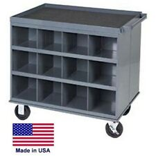 WORK STATION - Portable Steel Workbench Cabinet - 24 Compartments - Commercial