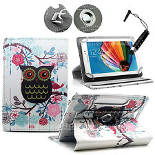 "360 Universal Leather Stand Case Cover For Android Tab Tablet For 7""8"" 9"" 10"" 11"