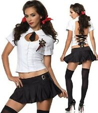 Sexy School Girl Uniform Fancy Dress Costume St Trinians School Girl Fancy Dress