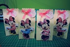 Personalized DISNEY MINNIE MOUSE Birthday Party Favor Box set of 6