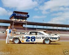 FRED LORENZEN 1960 # 28 FORD FAIRLANE DAYTONA AUTO RACING 8X10 PHOTO