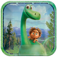 """8x Disney The Good Dinosaur Birthday Party 9"""" Square Paper Lunch Plates"""
