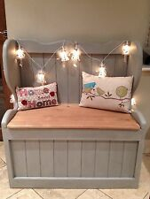 Church pew, Settle Monks bench Seat Blanket box Pine Shabby Chic