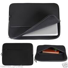 "15"" Black Laptop Soft Sleeve Case Bag Pouch For 15.6"" HP Dell Acer Sony Toshiba"