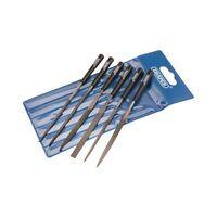 6 Pc Piece 140mm Needle Mini File Set Micro Draper 82577 4883/6D In Pouch NEW